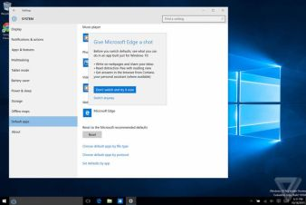 Microsoft doesn't want Windows 10 users switch to Chrome